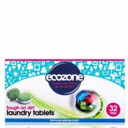 Tablete efervescente pentru spalarea rufelor albe si colorate x 32buc Ecozone