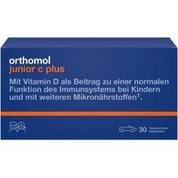 Orthomol Immun Junior C Plus Portocala x 30tb masticabile