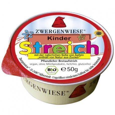 Pasta tartinabila ECO vegana pentru copii indulcita cu suc de mere fara gluten x 50g Zwergenwiese