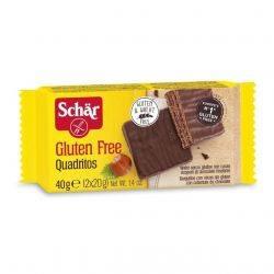 Quadritos - Napolitane fara gluten invelite in ciocolata x 40g Dr. Schar